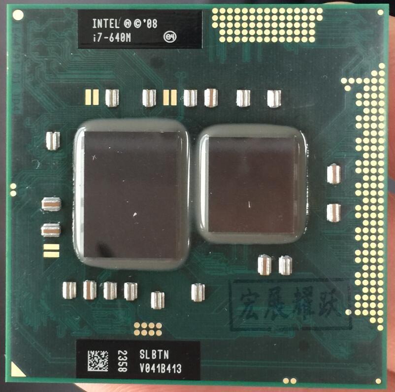 Processeur Intel Core I7-640M i7 640 M ordinateur portable CPU PGA 988 cpu