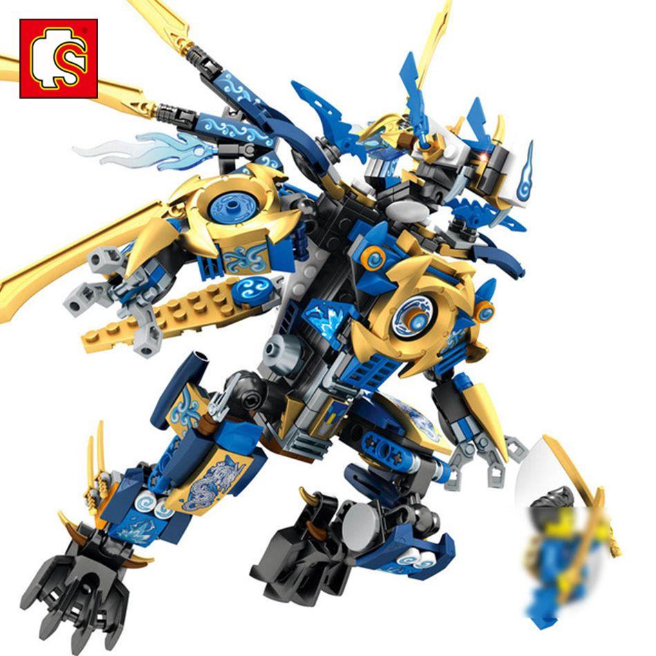 Sembo Игрушечные лошадки Dragon Knight здания Блоки ninjagoe фигурки просветить образования кирпич игрушка для детей Совместимость лего Сити