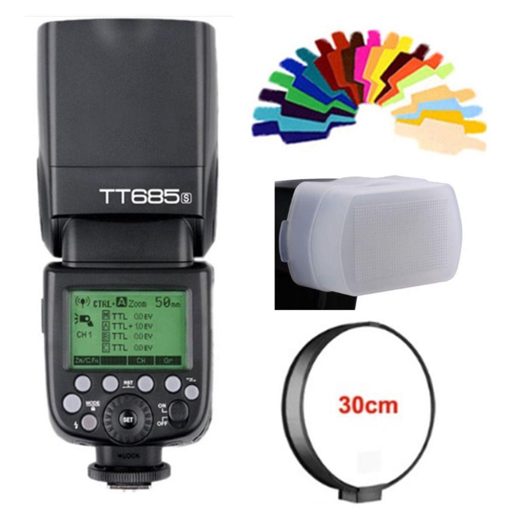 Godox TT685S 2.4G Wireless High-speed sync 1/8000s GN60 Flash Speedlite for Sony A77II A7RII/III A7R A99 A58 A6500 A6000 A6300