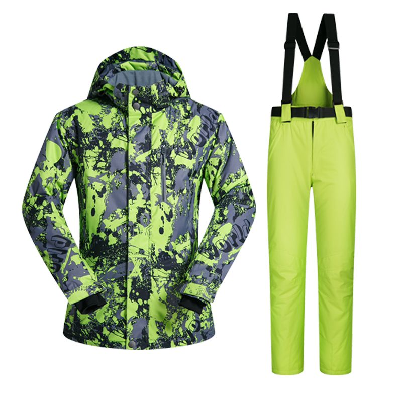 2017 New High Quality Men Ski Suit Set Windproof  Waterproof Warmth Snowboard Jackets And Pants Winter Snow Sportswear Clothing