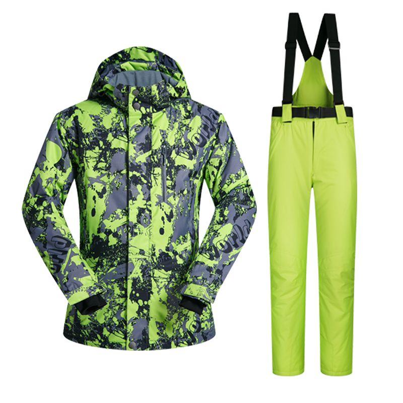 2017 neue Hohe Qualität Männer Skianzug Gesetzt Winddicht Wasserdicht Wärme Snowboard Jacken Und Hosen Winter Schnee Sportbekleidung