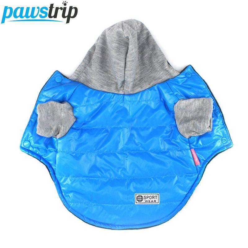 5 Farben Winter Hund Jacke Mantel Verdickung Warm Puppy Hund Kleidung Mit Kapuze Größe 8-18
