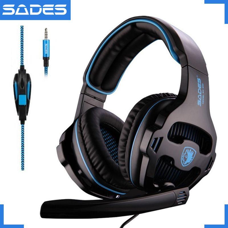 SADES SA-810 3.5mm stéréo casque de jeu casque multi-plateforme pour PS4 Xbox One PC Mac ordinateur portable téléphone