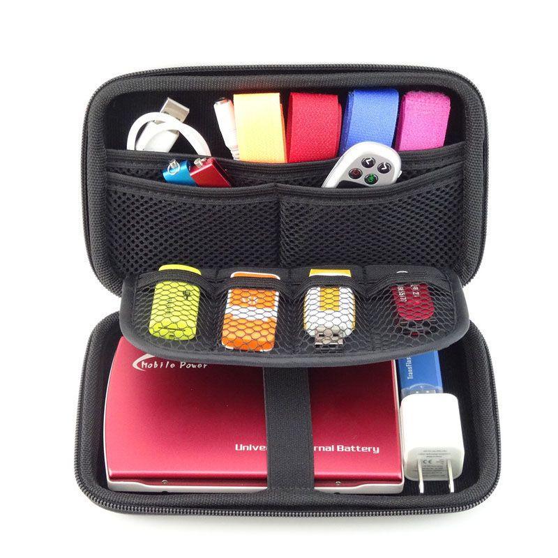 Funda disco duro externo 2.5 pouce Câble Organisateur Sac Carry Case HDD USB Flash Drive Carte Mémoire Téléphone GH1302