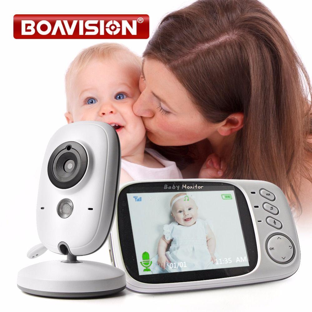 VB603 Vidéo Baby Monitor 2.4g Sans Fil Avec 3.2 pouces LCD 2 Façon Audio Discuter de Vision Nocturne de Sécurité de Surveillance Caméra baby-sitter