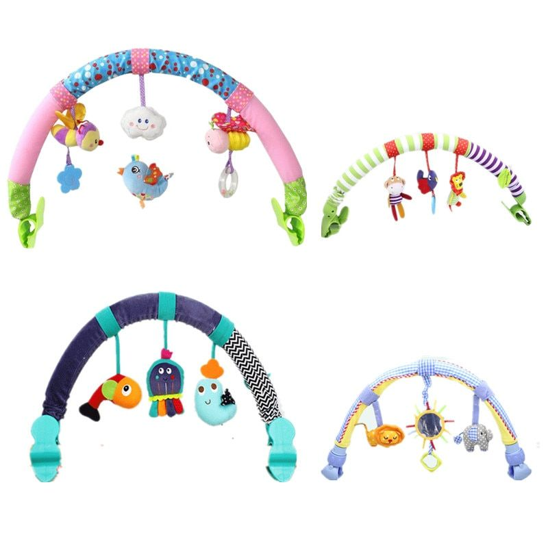 Hot sale lovely Stroller Lathe Car Seat Cot Hanging toys baby play Travel Newborn infant baby Toys educational rattles mobile