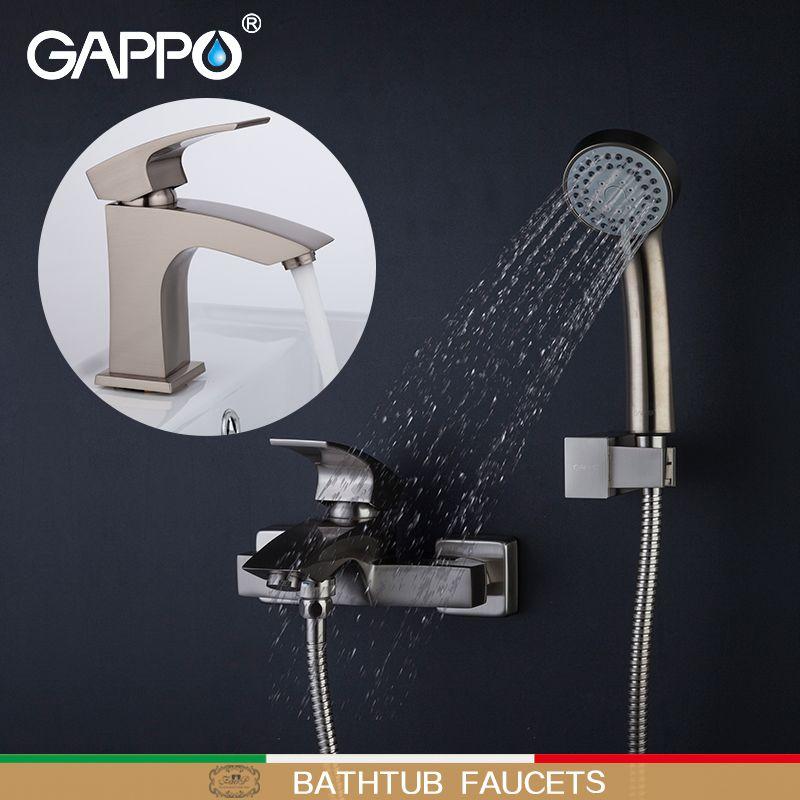 GAPPO Bathtub Faucets bathroom basin faucet bath shower mixer brass faucet water mixer taps water tap shower set