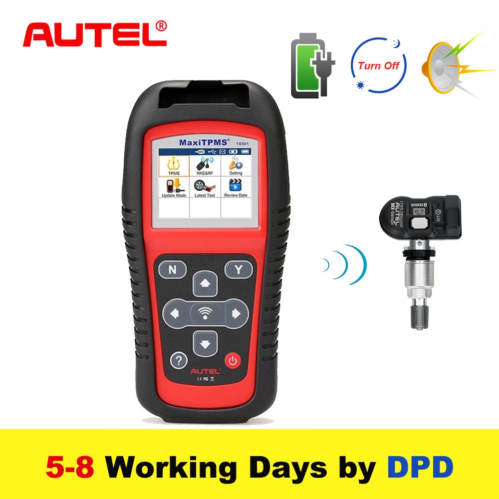 Autel MaxiTPMS TS501 315/433Mhz TPMS Diagnostic and Service TOOL activate TPMS sensors Reads/clears codes of TPMS system