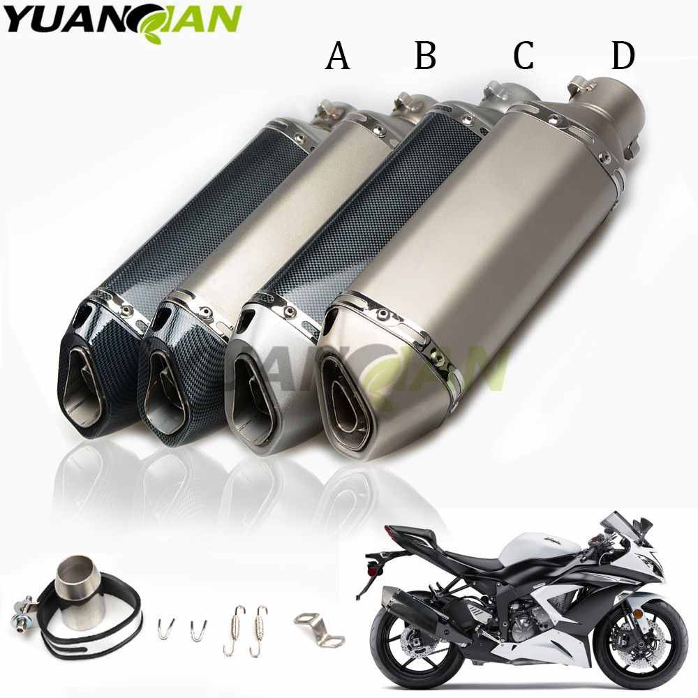 Motorcycle Exhaust Escape Moto Muffler Pipe With Removable For KAWASAKI NINJA 300R 300 R 2013-2017 NINJA 250R 2008-2016 Z250SL