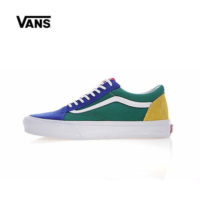 Original New Arrival Vans Men's & Women's Classic Old Skool Yacht Club Low-top Skateboarding Shoes Sneakers Canvas VN0A38G1R1Q