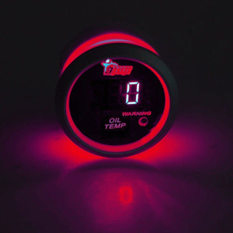 EE support Auto Accessories 52mm LED Display Digital Oil Temperature Gauge Car Styling Instrument Universal Automotive Parts
