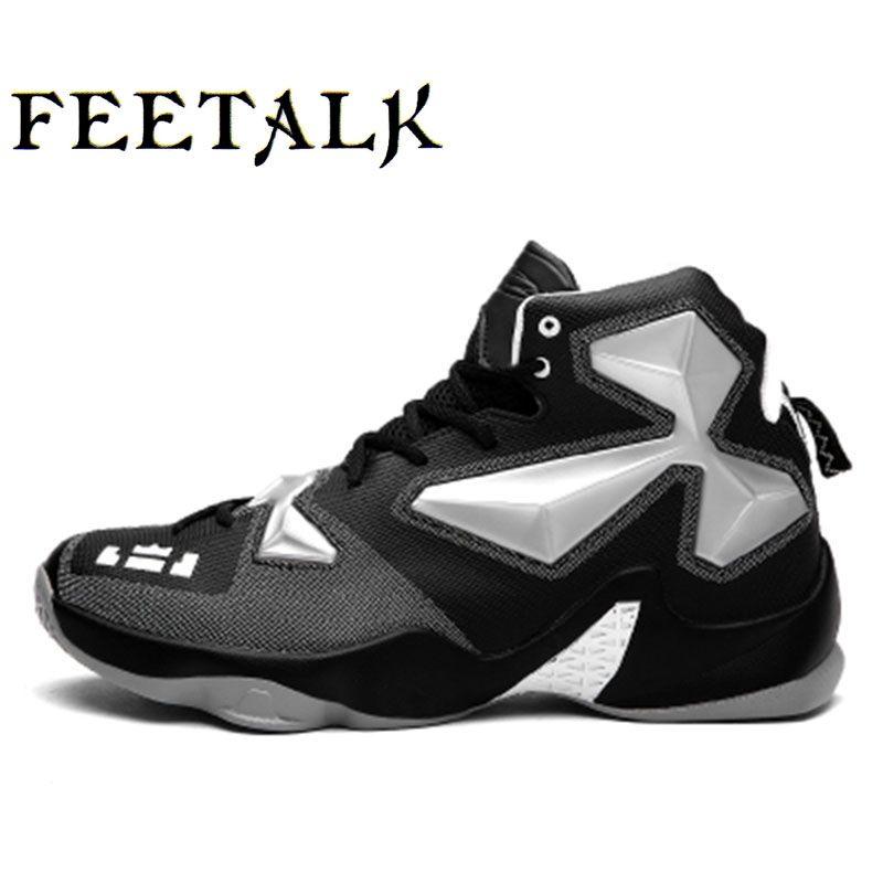 Мужские и Обувь для мальчиков Баскетбольные кеды Леброн Джеймс Обувь плюс Размеры 36-45 Кружево до Спортивная обувь кроссовки Zapatos де Baloncesto ...