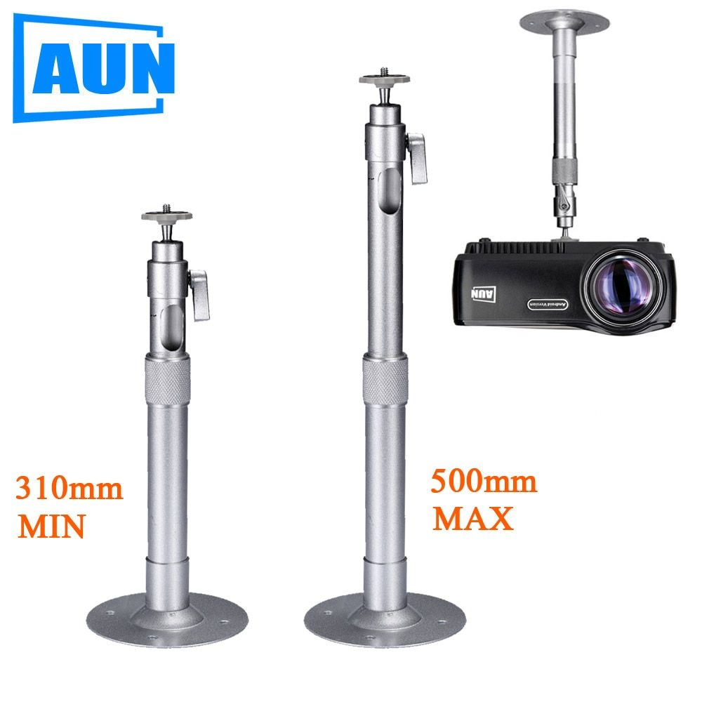 AUN Adjustable Projector Holder Ceiling Mount Max Length 500mm Min Length 310mm For Beamer Projector LED Proyector ZZ02
