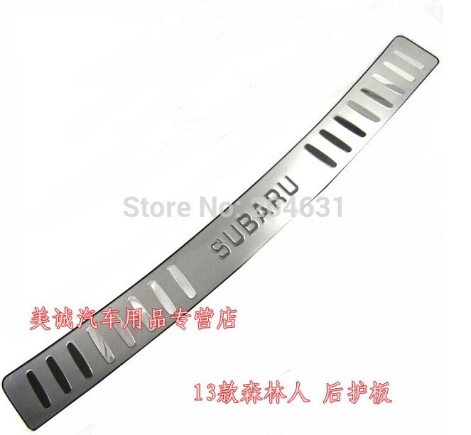 Stainless Steel Rear Trunk Scuff Plate Door Sill Bumper Protector For 2013 Saba-ru Forester fast air ship