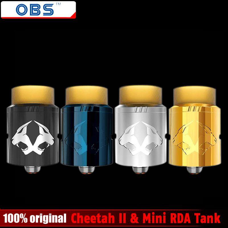 Оригинальный obs Cheetah II и мини rda танк Электронные сигареты ввиду капает распылителя испаритель VAPE Топ распылитель воздуха