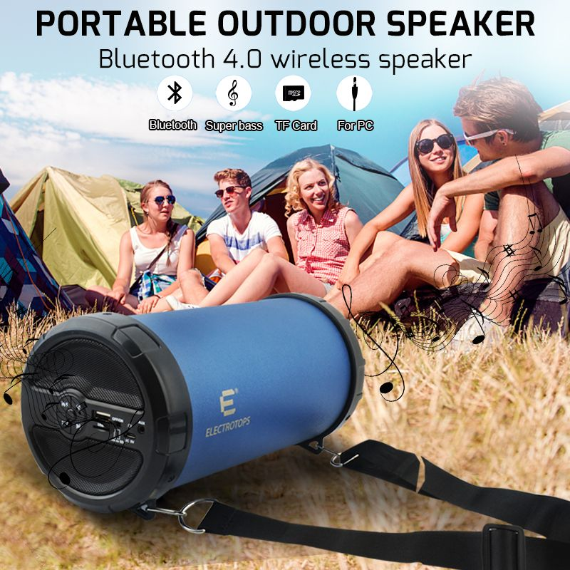 Wireless Bluetooth Speaker Bazooka Loud Hi-Fi Heavy Bass Outdoor Portable Speaker With AUX/TF card/FM Radio