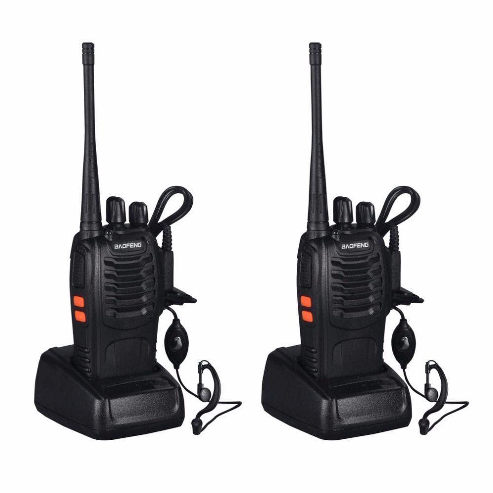 2PCS Baofeng BF-888S Walkie Talkie 5W Handheld Two Way Radio bf 888s UHF 400-470MHz Frequency Portable CB Radio Communicator