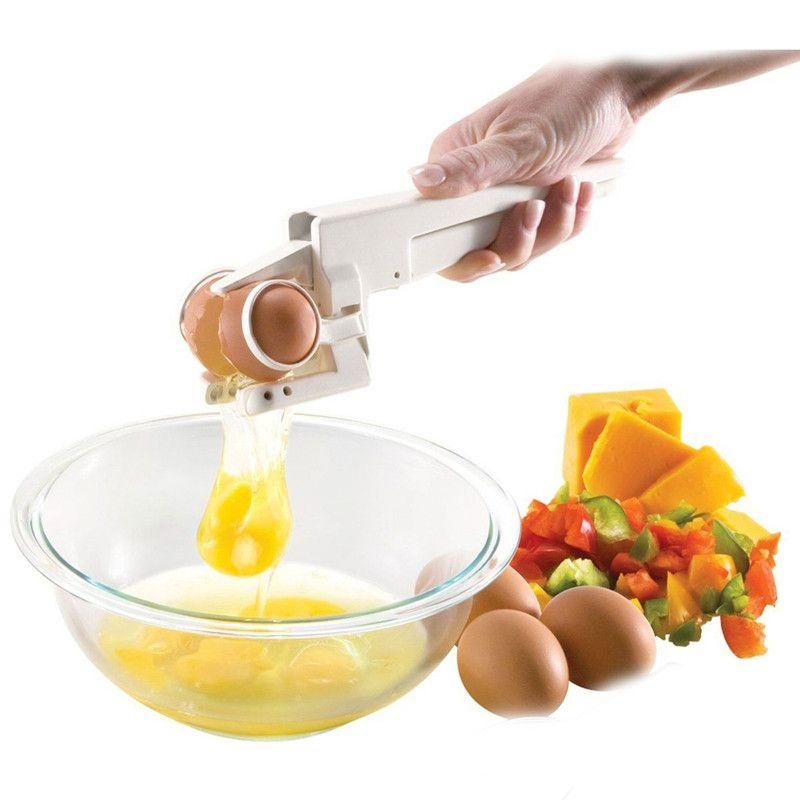EZ craquelin cuisine délicate Gadgets outils en plastique oeufs craquelins oeufs batteurs York et blanc séparateur fissure poche oeuf craquelin