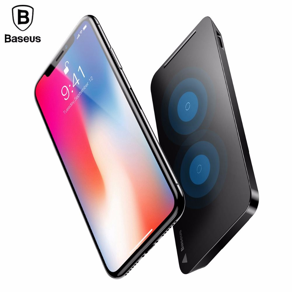 Baseus 10W Wireless Charger For iPhone X 8 Plus Samsung Note8 S8 S7 Edge Mobile Phone QI Wireless Charger Desktop Charging Stand