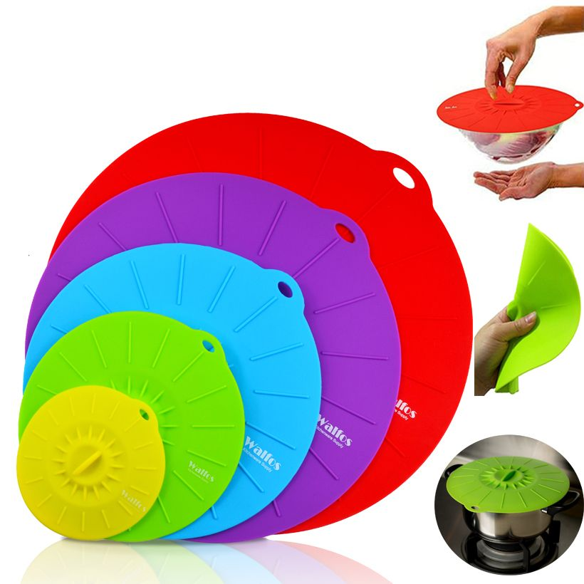 WALFOS Silicone cuisson alimentaire stockage couvercle d'aspiration micro-ondes alimentaire couverture poêle couvercles bol couvercle silicone pot couvercle