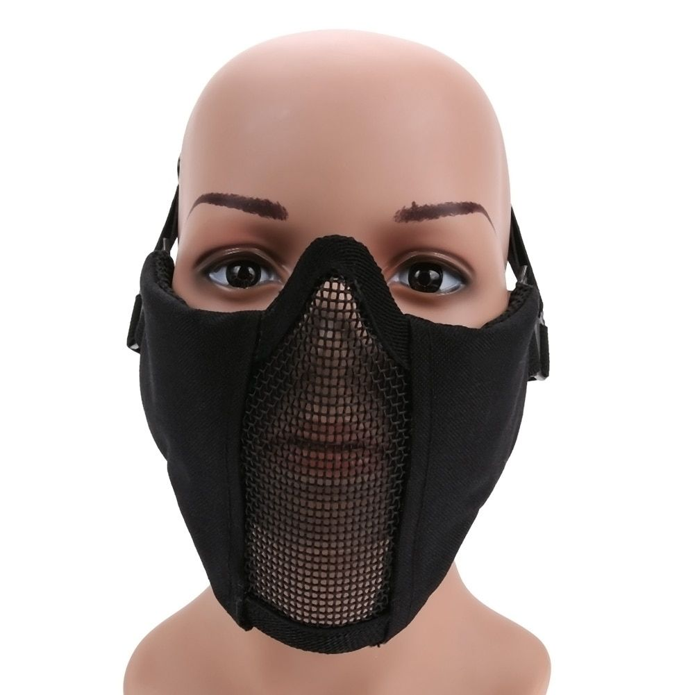 Heißer Airsoft Halbes Gesichtsmaske Untere Gesicht anti-strike flexible Net Mask Jagd Tactical Schutz CS Halloween Party Radfahren maske