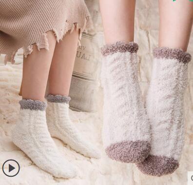 5 Pairs one set Tib  2017 Women Fashionable Patterns Cotton Winter Socks Cute Cartoon Middle Sock Female Short Socks