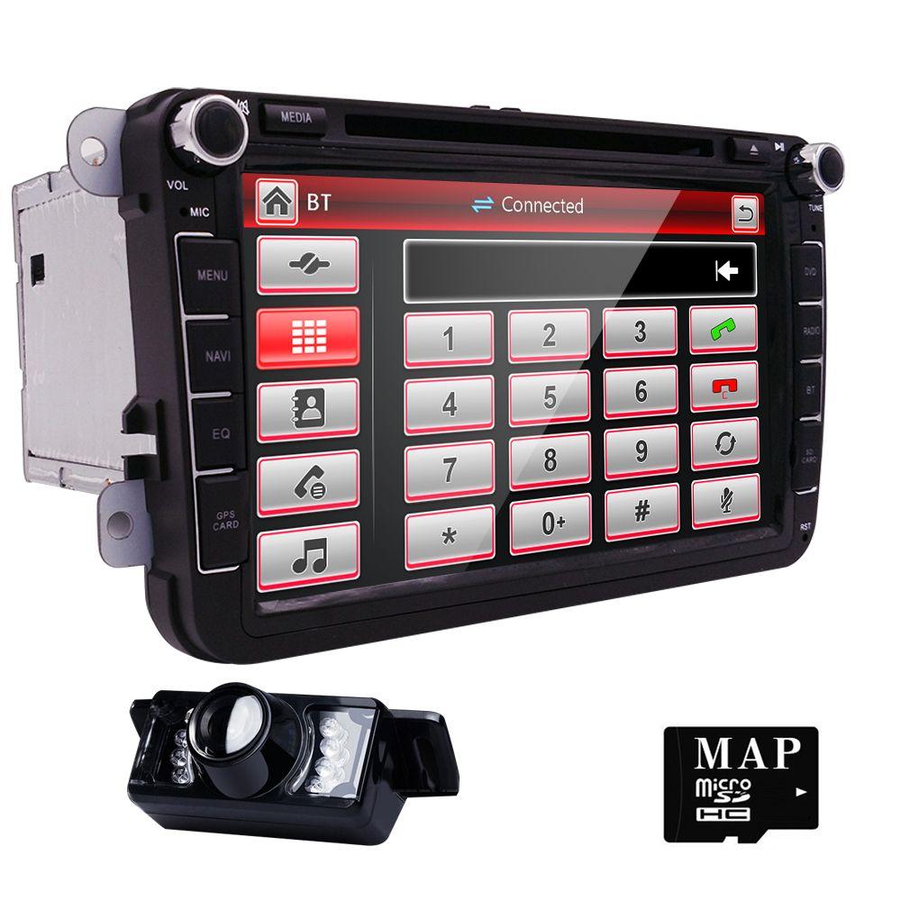 Hizpo 8inch 2din Multimedial VW Car DVD Player GPS Navigation for GOLF 6 new polo New Bora JETTA PASSAT B6 SKODA GPS Map SWC Cam