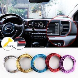 5M/SET Car Styling Brand Stickers and Decals Interior Decorative 3D Thread Stickers Decoration Strip on Car-Styling