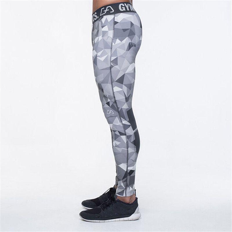 2016 Camouflage Männer Hosen Fitness Jogger Kompression Strumpfhosen Lange Hosen Leggings Mens Wear