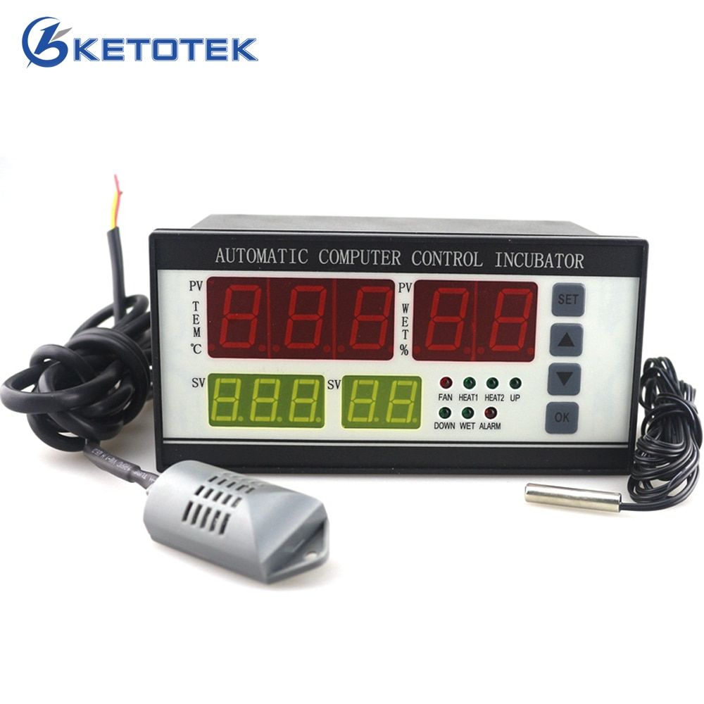 XM-18 Egg Incubator Controller Thermostat Hygrostat Full Automatic Microcomputer Control Temperature Humidity Sensor Probe