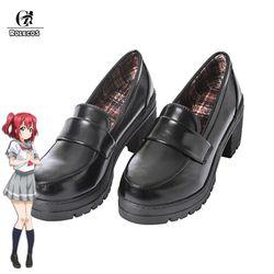 ROLECOS Japanischen Anime Liebe Live Sonnenschein Cosplay Schuhe Takami Chika Mädchen JK Schuhe Liebe Live Aqours Schuluniform Schuhe