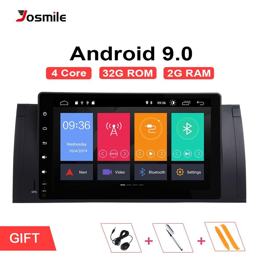 Josmlie 1 Din Android 9.0 GPS Radio Für BMW E39 BMW X5 E53 M5 Multimeida Navigation KEIN DVD Audio StereoIPS Touch screenHead Einheit