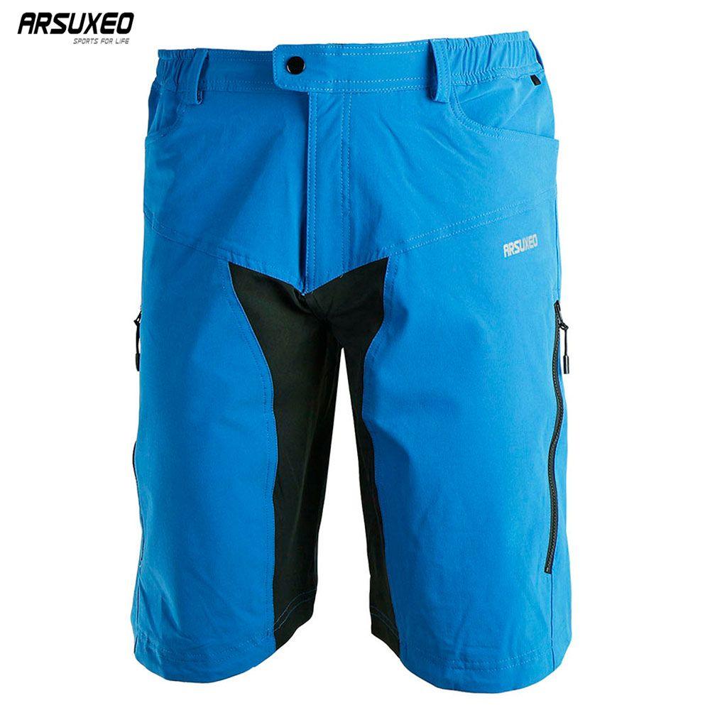 ARSUXEO hommes Sports de plein air cyclisme descente vtt Shorts VTT Shorts de vélo porter des vêtements en Jersey avec Pad DH-2