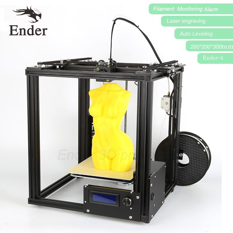 3D printer Ender-4 with Laser,Auto Leveling,Reprap Prusa i3 Ender-4 printer 3D Kit,Filament Monitoring Alarm,big size n filament