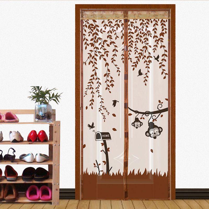 Sommer Anti-moskito Magic Moskitonetz Bildschirm Tür Vorhang Mesh Magnetischen Weichen Maschensieb-insekt-fliegen-wanzen-moskito Netting Auf Die tür
