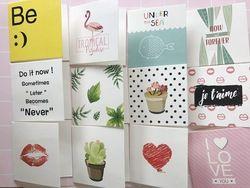 8 Pcs/pack de Valentine Jour Mini Carte Carte Postale D'anniversaire Lettre Cadeau Carte Carte de Message