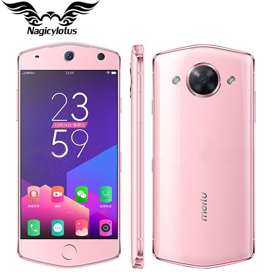 New Original 5.2 inch Meitu M8 Mobile Phone 4G RAM 64GB ROM Android MT6797M Deca Core4G 3000mAh 21.0MP Camera Telephone