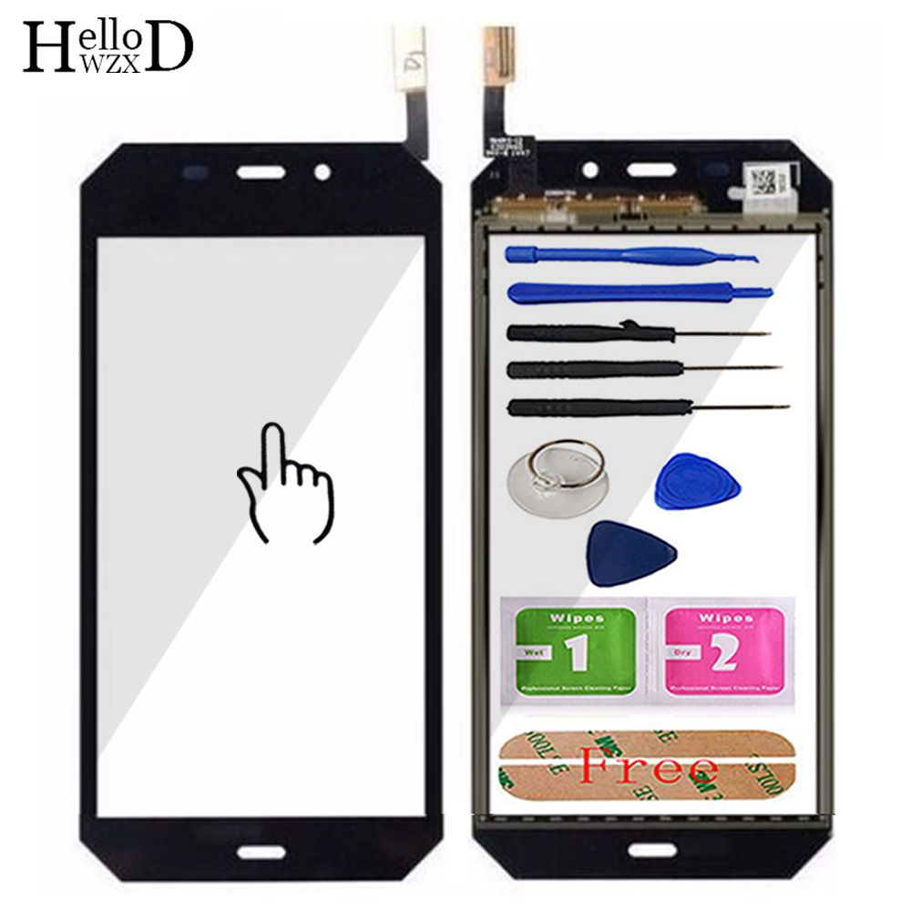 HelloWZXD 4.7'' Mobile Phone Touch Glass For Cat S50 Touch Screen Glass Digitizer Panel Front Glass Lens Sensor Tools + Adhesive