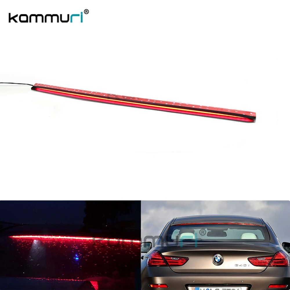 Universal 36-Inch Roofline LED Third Brake Light Kit Above Rear Windshield For Audi A6 A7 For BMW 6 Series, Car-Styling KAMMURI