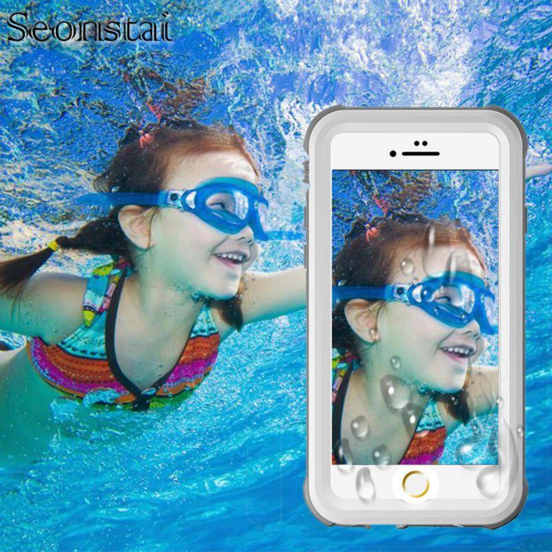 Pour IPhone 6 6 s Boîtier Étanche 6 Plus/6 s Plus La Vie de L'eau preuve Cas Antichoc Dirt Preuve Cas de Téléphone pour I Phone 6 couverture
