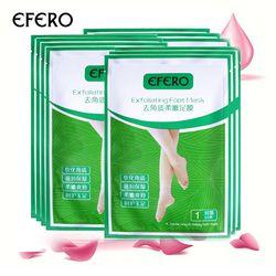 EFERO 4 PC = 2 Pack Peeling Pied Masque Exfoliant Chaussettes pour Pédicure Chaussettes bébé Pieds Masques pour Jambes Crème pour Talons Enlever la peau