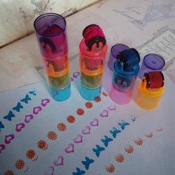3/6 Pcs Colorful Gambar Belajar Perangko Segel Pendidikan Bayi untuk Anak Mahasiswa DIY Alat Gambar Kreativitas Hadiah