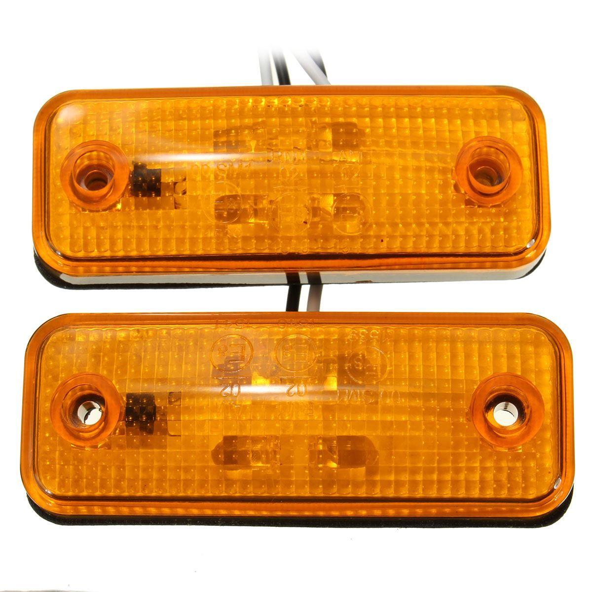 2 шт. 4 Боковой габаритный фонарь светодиодный индикатор Автобус Грузовик Прицепы Грузовик Караван 10 ~ 30 В e8