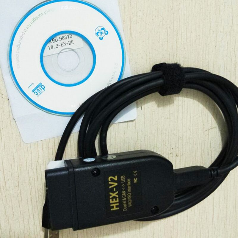 High Quality Professional HEX+V2 18.9 Software USB Interface Car Auto Fault Diagnosis Wire For BW (English+German)