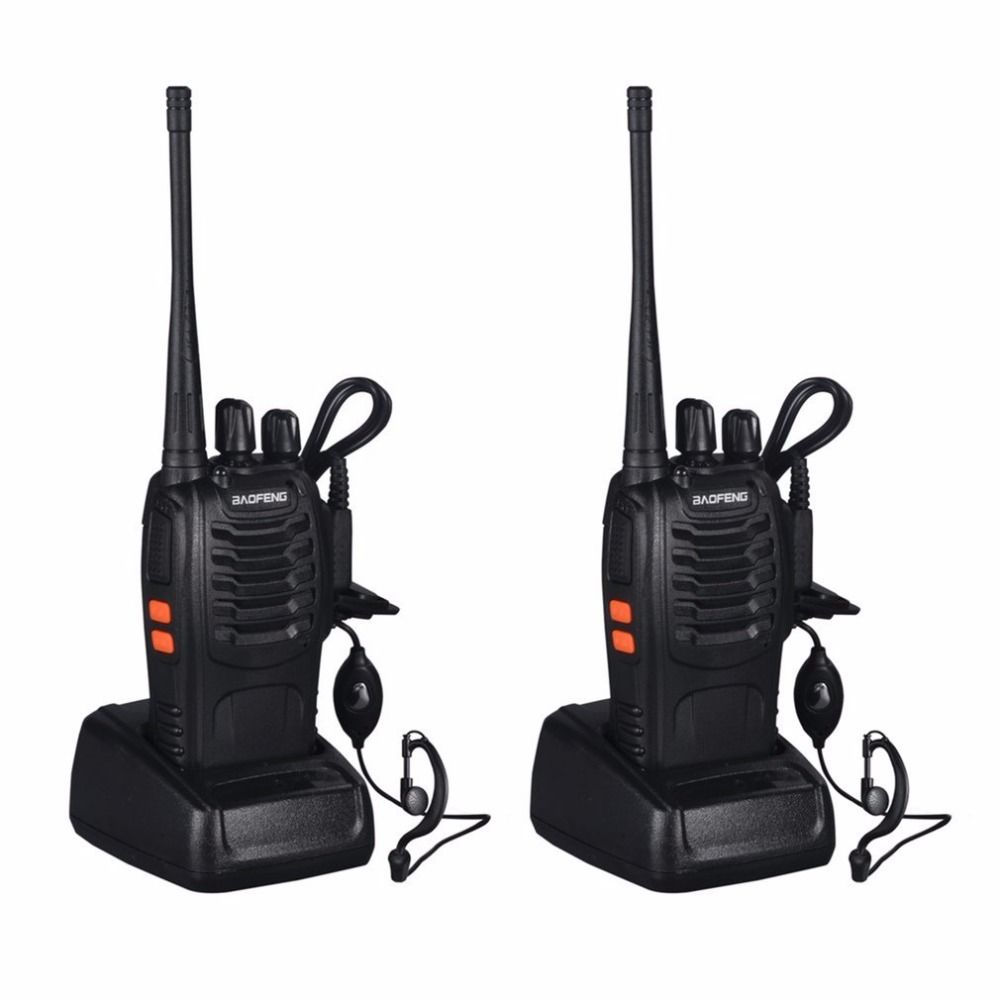 2 PCS Baofeng BF-888S Walkie Talkie 5W Handheld Two Way Radio bf 888s UHF 400-470MHz Frequency Portable CB Radio Communicator