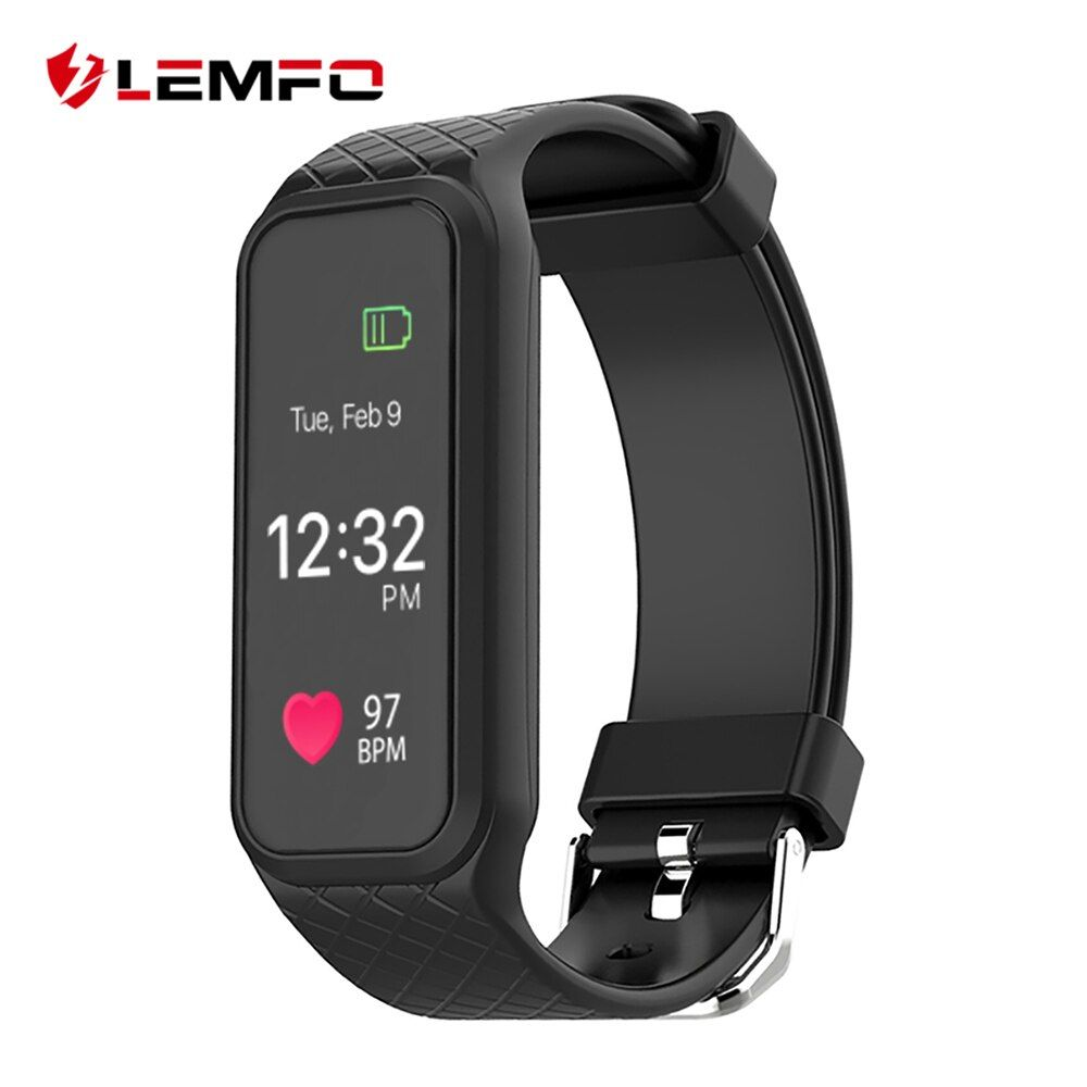 LEMFO L38I Bluetooth Smart Band Dynamic Heart Rate Monitor Full color TFT-LCD Screen Smart Wristband for IOS Android Smartphone