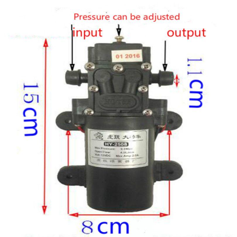 water pump 0.6MPA 60W 4L bomba de agua 12v pompe 12v 12 volt diaphragm pump free shipping