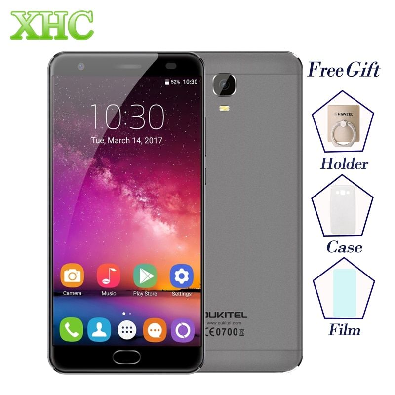 OUKITEL K6000 Plus 5.5 ''ROM 64 GB RAM 4 GB Smartphones Android 7.0 MTK6750T Octa base D'empreintes Digitales Charge Rapide 16MP Mobile Téléphones