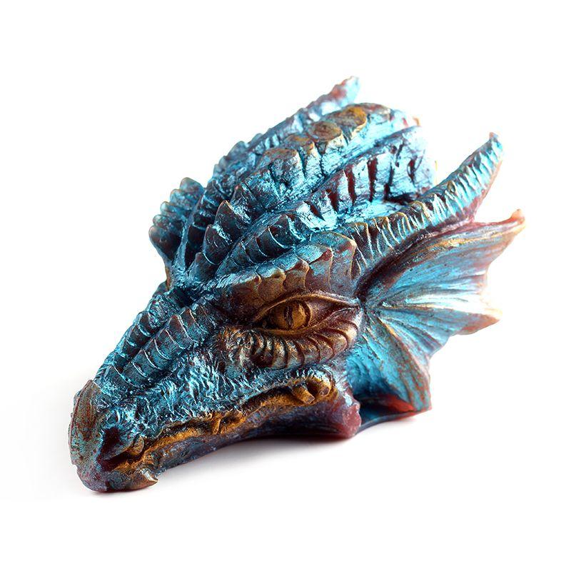 Silicone savon bougie moule 3D Dragon forme chocolat bonbons moules anti-adhésif résine artisanat