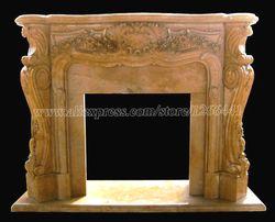 Резной каменный мраморный камин объемный Мантел французский стиль Виктории